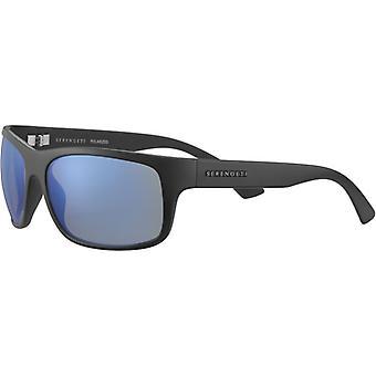 Serengeti Pistoia 8298 Matte Black/Mineral Polarized 555nm Blue Sunglasses