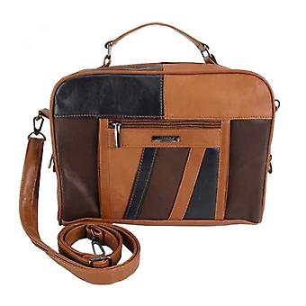 Ladies Soft Leather Cross Body Patchwork Bag