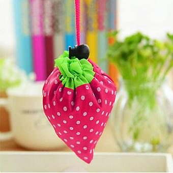 1 Pc Strawberry Foldable Shopping Bag Tote Reusable Eco Friendly Grocery Bag