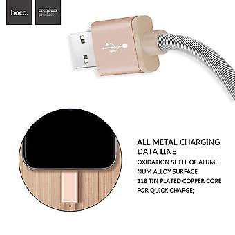Hoco U5 Full Metal Charging Cable Data Cable 1.2m 2.4a For Apple Products