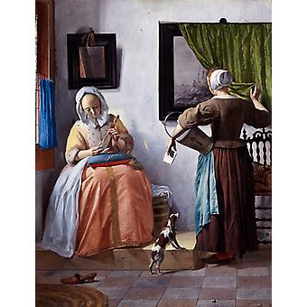Woman Reading A Letter, Gabriel Metsu Art Reproduction. Modern Hd Art Print Poster, Canvas Prints Wall Art For Office Home Decor Pictures