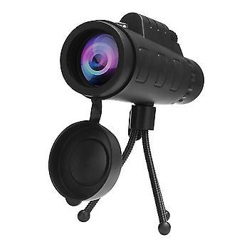 Telescopio de visión nocturna de camping monocular 40x60 HD con trípode de clip de teléfono compass