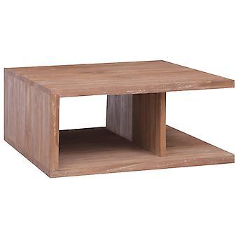 """שולחן קפה vidaXL 70 x 70 x 30 ס""""מ טיק עץ מלא"""