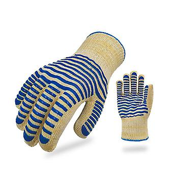 500℃ Bbq Heat Proof Gloves Silicone Insulated Heat Resistant Gloves