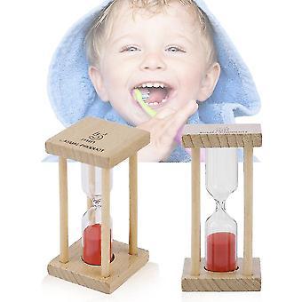 Holz Hourglass Sandglas Sanduhr Uhr Timer für Kinder Bürsten 1/5 Minuten