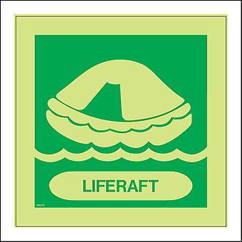 MR050 Liferaft Sign with Liferaft Waves