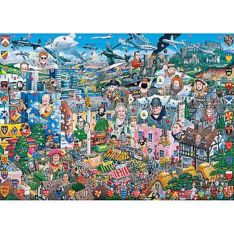 Gibsons Jigsaw Puzzle I Love Great Britain 1000 pieces Mike Jupp
