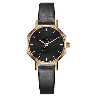 Klasse14 Okto Dark Rose 28mm Black Leather Strap OK18RG005S Watch