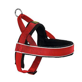 Pet collars harnesses racing norwegian-style harness  medium  red