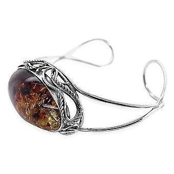 TJC Amber mandzsetta karperec sterling ezüst ajándék feleségnek / anya 8 '' 50ct