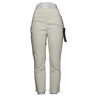 DG2 door Diane Gilman Dames Petite Jeans Stretch Pull-On Skinny Ivory 765282