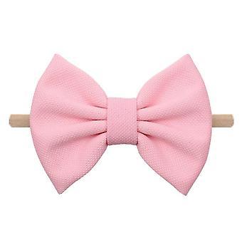5PCS Neue 5 '' Haarschleifen Stirnband für Mädchen Chic Solid Spring Haarband Haar krawatten für Kinder DIY Mädchen