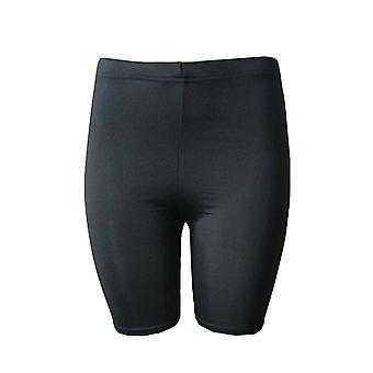 Cor sólida Calças de secagem rápida de secagem rápida Ciclismo Mulheres Calças Fitness High Elastic Mid Thigh Stretch Shorts para Sports Yoga Running (preto XL)