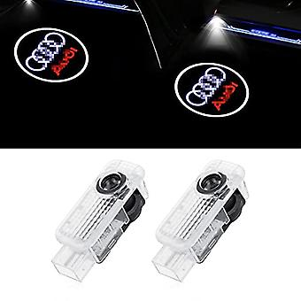 أضواء العرض شعار باب السيارة، 2 حزمة باب السيارة أدى أضواء الترحيب ل A4/a5/a6/a7/a8/q3/q5/q7 سلسلة، اكسسوارات إضاءة السيارات