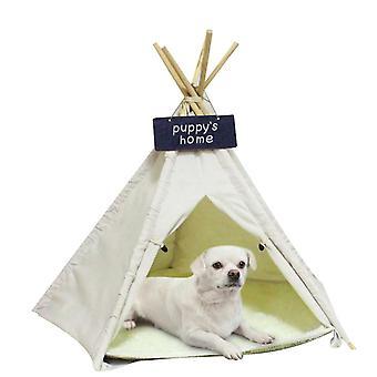 Koiran telttatalo 23.6inch pitkä suuri lemmikki teepee-sänky - pehmeät taitettavat lemmikkitalot tyynyllä