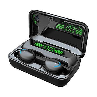 F9 Smiley Wireless Earphone-tws Earphone Bluetooth 5.0 Wireless Earbud Earphone (black)