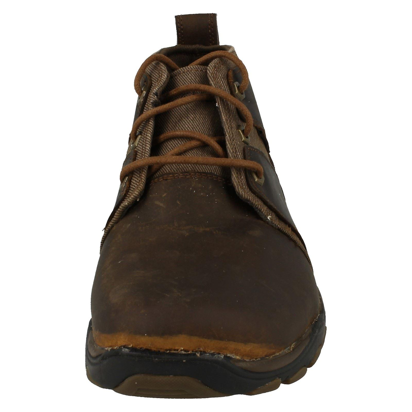 Mens Skechers Casual Lace Up bottes Lutador