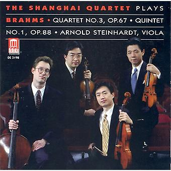 J. Brahms - The Shanghai Quartet Plays Brahms Quartet No. 3 Op. 67, Quintet No. 1 Op. 88 [CD] USA import