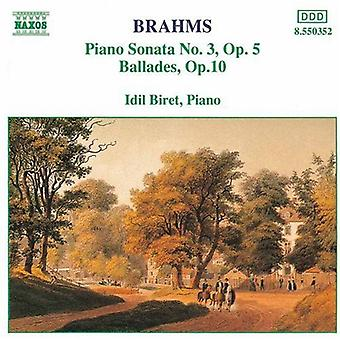 J. Brahms - Brahms: Piano Sonata No. 3; Ballades, Op. 10 [CD] USA import