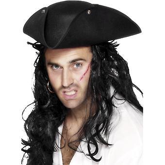 Piracki kapelusz tricorn pirat kapitan pirata pirat kapelusz