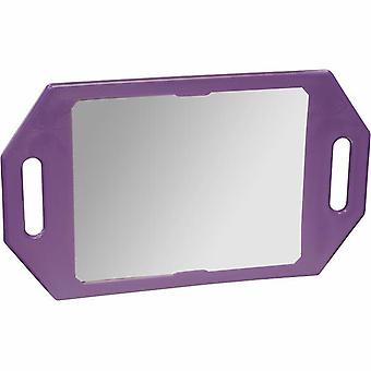 123 Hair and Beauty Two Handed Mirror - Purple