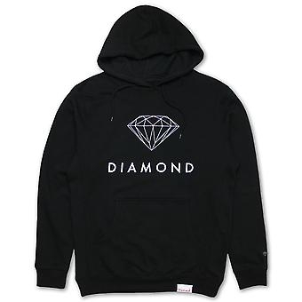 Diamante abastecimento Co Futura sinal Hoodie preto