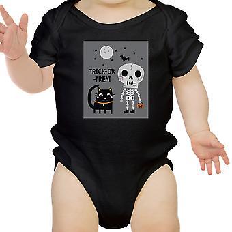 Szkielet czarny kot Baby czarne Body Halloween prezent dziewczynka