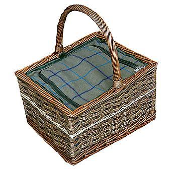 Yorkshire Prútený piknikový kôš s namontovaná chladič