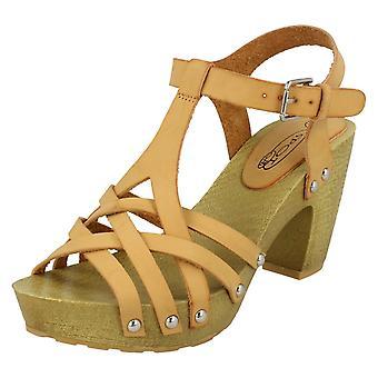 Womens col tacco fibbia sandali F10534