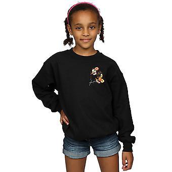 Janis Joplin Girls Floral Faux Pocket Sweatshirt