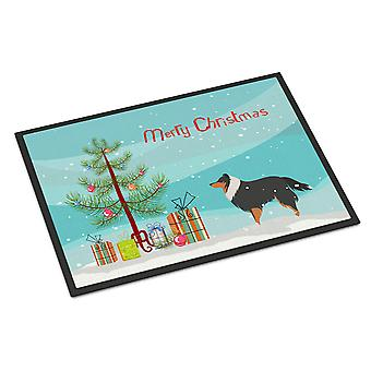 Sheltie/Shetland Sheepdog Merry Christmas Tree Indoor or Outdoor Mat 18x27