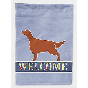 Carolines Treasures  BB5497GF Irish Setter Welcome Flag Garden Size