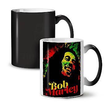 Marley Bob Weed Rasta NEW Black Colour Changing Tea Coffee Ceramic Mug 11 oz | Wellcoda