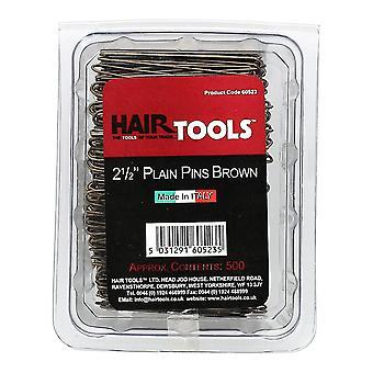 Εργαλεία μαλλιών 2,5 inch απλό καρφίτσες καφέ