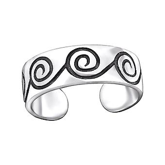 Swirl - 925 Sterling Silver Toe Rings - W29409X