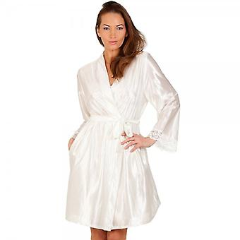 Camille Ivory lusso raso Womens Chemise Set
