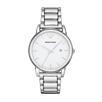 Emporio Armani Classic Silver Miesten Gents Rannewatch AR1854