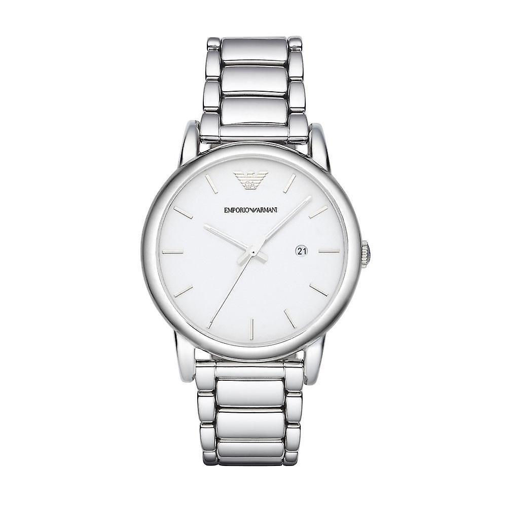 Emporio Armani Classic Silver Mens Gents Wrist Watch AR1854