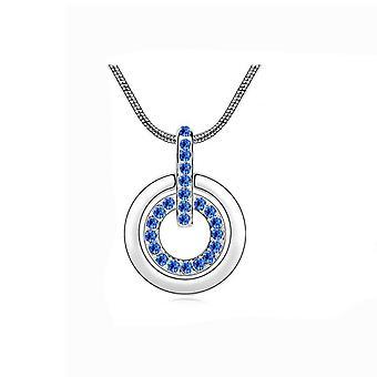 Womens Mörk blå hänge halsband kristall stenar Mix & Match