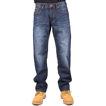 Caterpillar Mens Trax Slouch Fit Stonewash Trousers Jeans