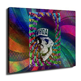 Skull Weed Cannabis Wall Art Canvas 40cm x 30cm | Wellcoda