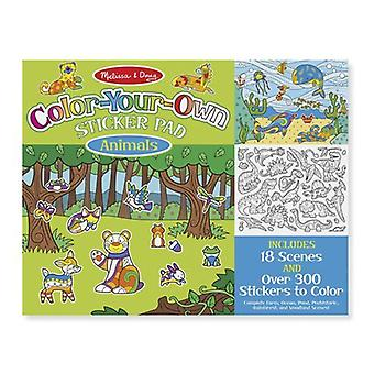 Melissa & Doug Colour Your Own Sticker Pad Animals