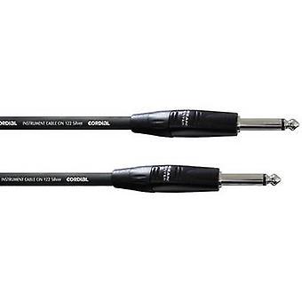 Hjertelig CII 6 PP-instrumenter Kabel [1x Jack plug 6,35 mm - 1x Jack plug 6,35 mm] 6,00 m Svart