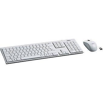 Fujitsu LX390 draadloos toetsenbord/muis combo Duits, QWERTZ, Windows® wit