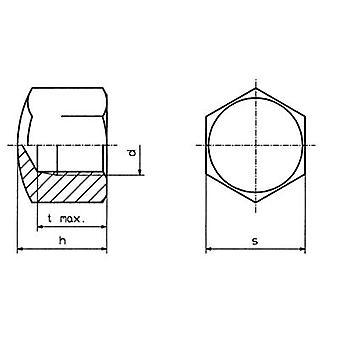 TOOLCRAFT M4 D917-STAHL:A2K 194783 Hex cap nuts M4 Steel zinc plated 10 pc(s)