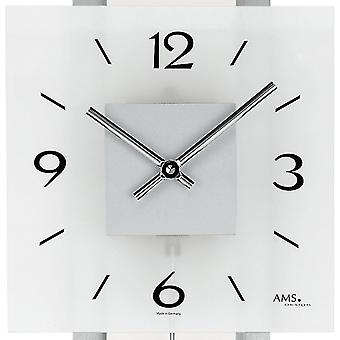 Wall clock quartz clock with pendulum clock pendulum wooden aluminum 68 x 22 x 70 cm AMS