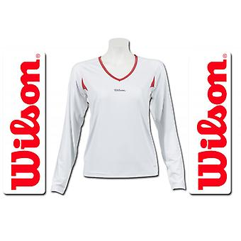 Wilson ladies performance long sleeve white