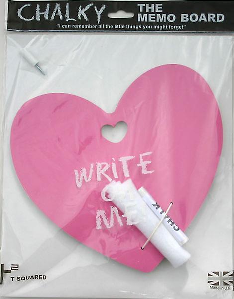 Conseil de craie de coeur d'amour rose
