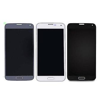 الاشياء المعتمدة® سامسونج غالاكسي S5 I9600 الشاشة (شاشة تعمل باللمس + AMOLED + أجزاء) أ + الجودة - الأزرق / الأسود / الأبيض
