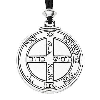 Fatto a mano talismano di Giove 6 ° e 7 ° pentacolo chiave del Solomon Seal ermetica Enochian Kabbalah peltro potenza ciondolo